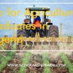 Job for Agriculture Graduates